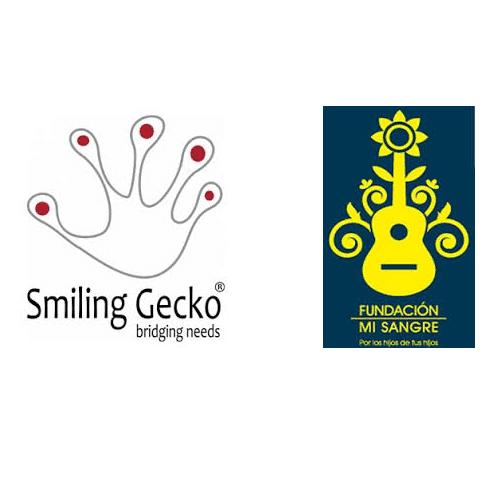 Dankbarkeit / gratitude zeigen für Stiftung Smiling Gecko und Stiftung Mi Sangre