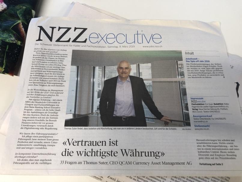 Vertrauen ist die wichtigste Waehrung NZZ Interview mit QCAM CEO Thomas Suter