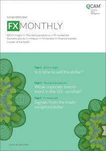 FX Monthly: Is it time to sell the dollar? / Weak corporate investment in the US – so what? / Signals from the trade-weighted dollar